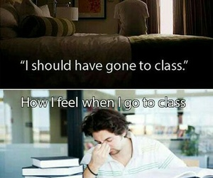 school, funny, and class image