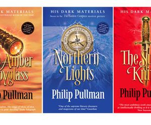 his dark materials, northern lights, and philip pullman image