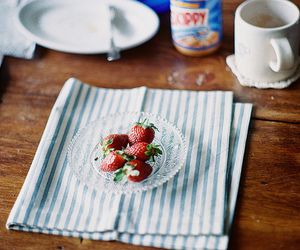 strawberry, food, and photography image