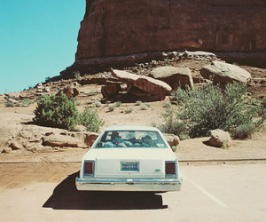 car, desert, and travel image