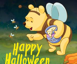 Halloween, winnie the pooh, and happy halloween image