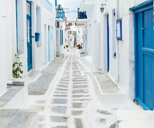 blue, travel, and white image