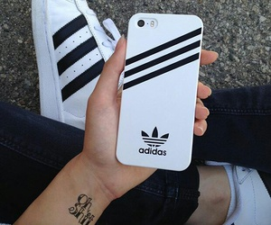adidas, iphone, and shoes image
