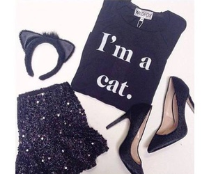 cat, outfit, and Halloween image