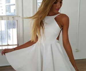 dress, minidress, and party image