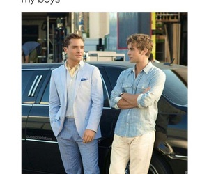 gossip girl, chuck bass, and nate image