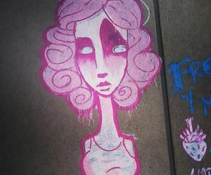art, pink, and urban image