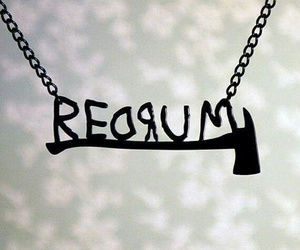 murder, necklace, and redrum image