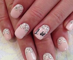 nails, I DO, and pink image