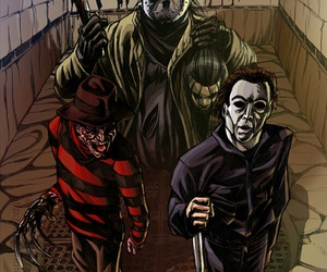 friday the 13th, knife, and michael myers image