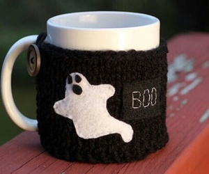 Halloween, ghost, and cup image