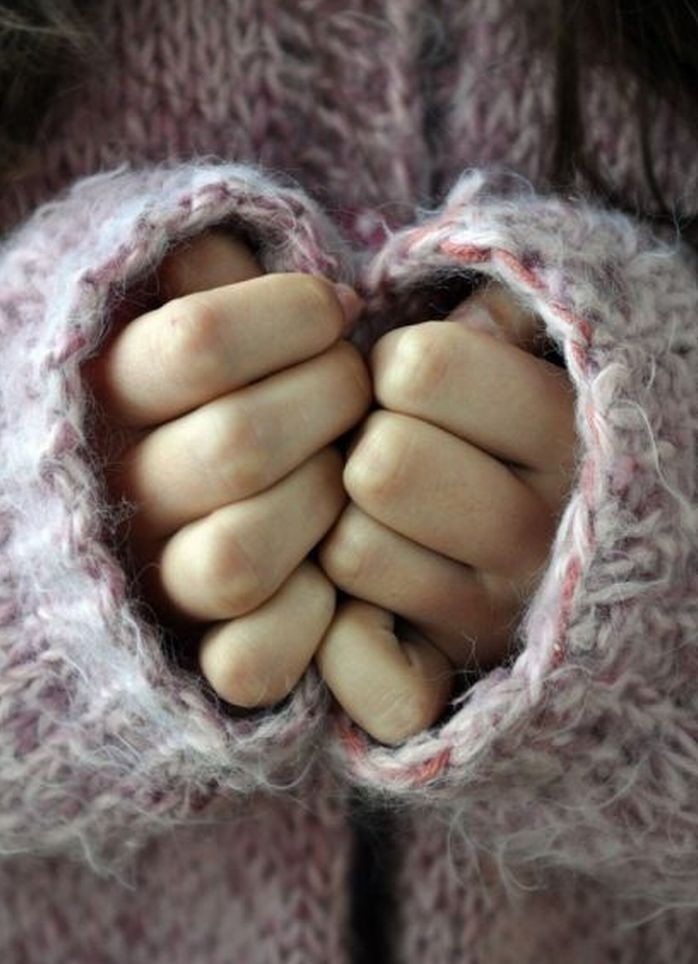 sweater, hands, and heart image