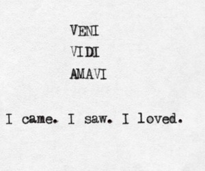 loved, saw, and came image