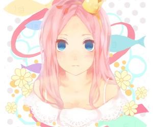 anime, anime girl, and crown image