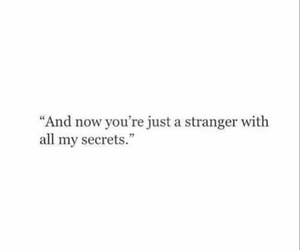 quotes, secrets, and stranger image