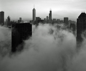city, building, and clouds image