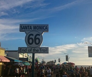 route 66 and santa monica image