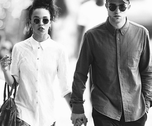black and white, couples, and robert patterson image