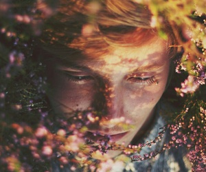 flowers, boy, and photography image