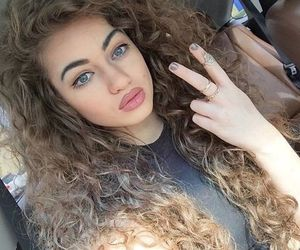 girl, hair, and curly image
