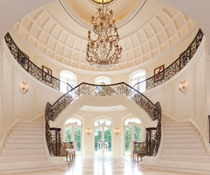 luxury, house, and stairs image