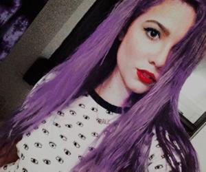 halsey and purple hair image
