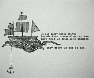 quotes, anchor, and sea image