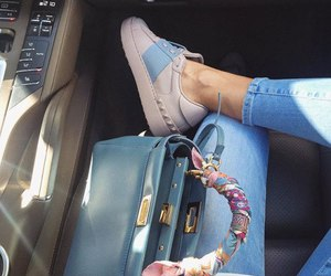luxury, bag, and shoes image