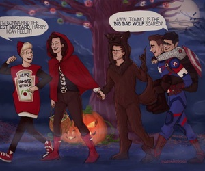 one direction, Halloween, and 1d image