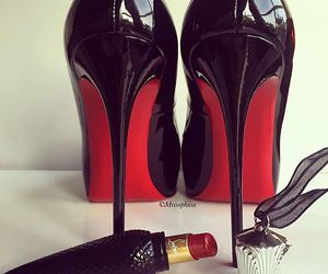 fashion, lipstick, and heels image