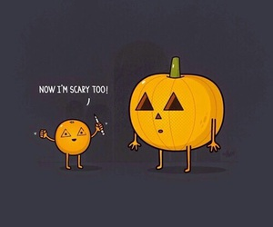 orange, pumpkin, and funny image