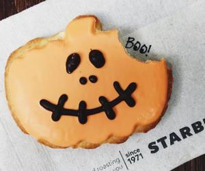 Halloween, starbucks, and cookie image