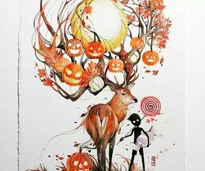 art, Halloween, and autumn image