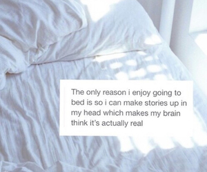 bed, quotes, and Dream image