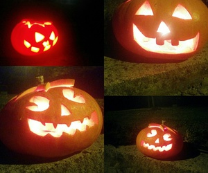 night, pumpkin, and scary image