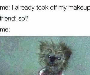 funny, makeup, and dog image