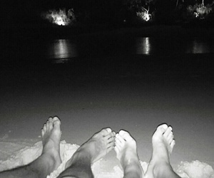 beach, night, and relaxation image