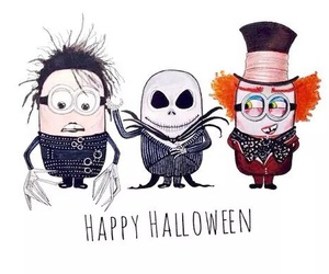 minions, Halloween, and happy halloween image