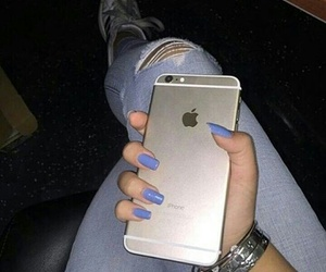 iphone, nails, and tumblr image