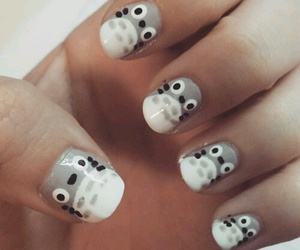 anime, nails, and totoro image