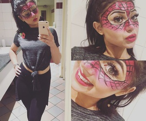 Halloween, makeup, and spider-man image