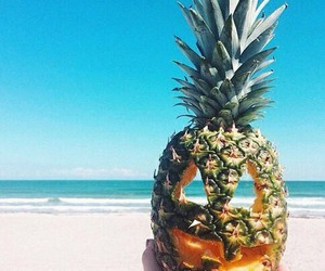 Halloween, pineapple, and summer image