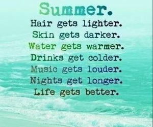 summer, life, and hair image