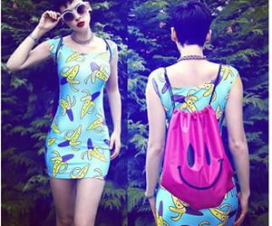 banana, dress, and style image