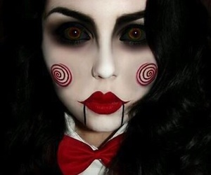 Halloween, saw, and makeup image