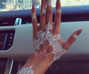 henna, nails, and white image
