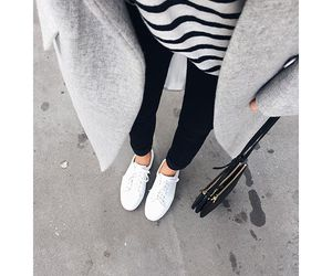 black, coat, and outfit image