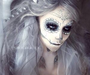 Halloween, makeup, and beautiful image