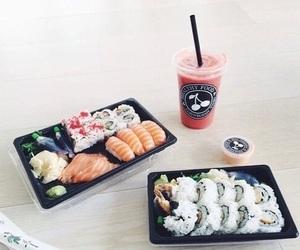 sushi, fish, and japan image
