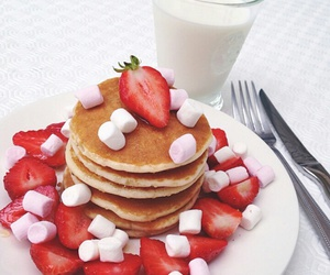 breakfast, delicious, and hot cakes image